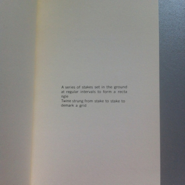 Lawrence Weiner - General statement (Nr. 12)