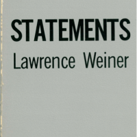 Künstlerbuch | Artists' book: Lawrence Weiner. Statements, 1968