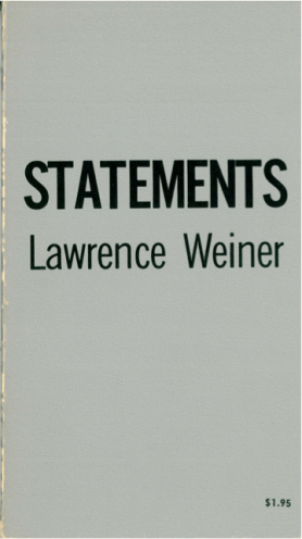 Lawrence Weiner - Statments, 1968 (Foto: Marlene Obermayer)