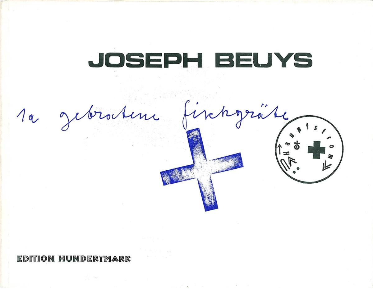 Künstlerbuch | Artists' book: Joseph Beuys. 1a gebratene Fischgräte, 1972