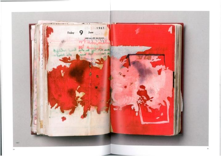 Dieter Roth, Tagebuch 1967 (Katalog Seite 24-25)