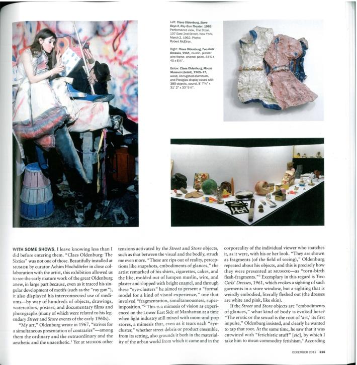 Artforum, December 2012, S. 215