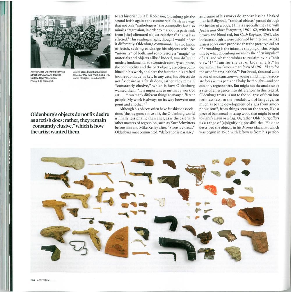 Artforum, December 2012, S. 216