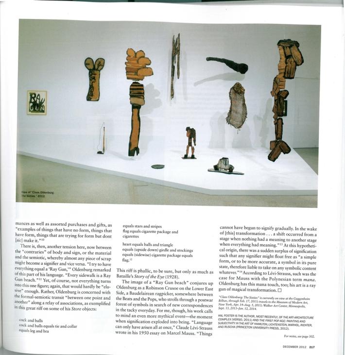 Artforum, December 2012, S. 217
