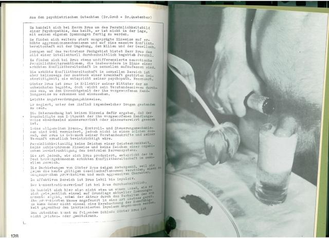 Günter Brus: Die Schastrommel, 8b, Aktionen 1967-68 (S. 128)