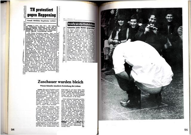 Günter Brus: Die Schastrommel, 8b, Aktionen 1967-68