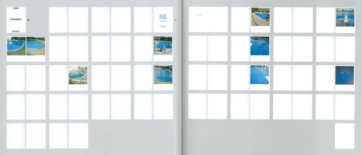 Ed Ruscha: Nine Swimming Pools (and a broken glass), 1968 (Fotonachweis: Catalogue raisonné, Walker Art Center, Minneapolis 1999)