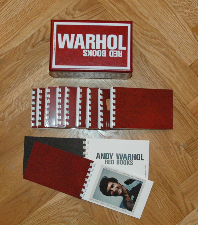 Red Books by Andy Warhol, 2004 (Faksimile Fotobücher)