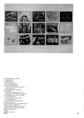 """Martin """"Mattin"""" Kippenberger, in: Wer diesen Katalog nicht gut findet muß sofort zum Arzt, 1983"""