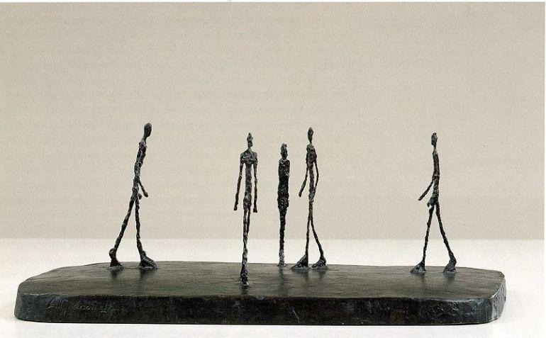 Alberto Giacometti Place (Platz), 1948-49 (Quelle: Hamburger Kunsthalle)