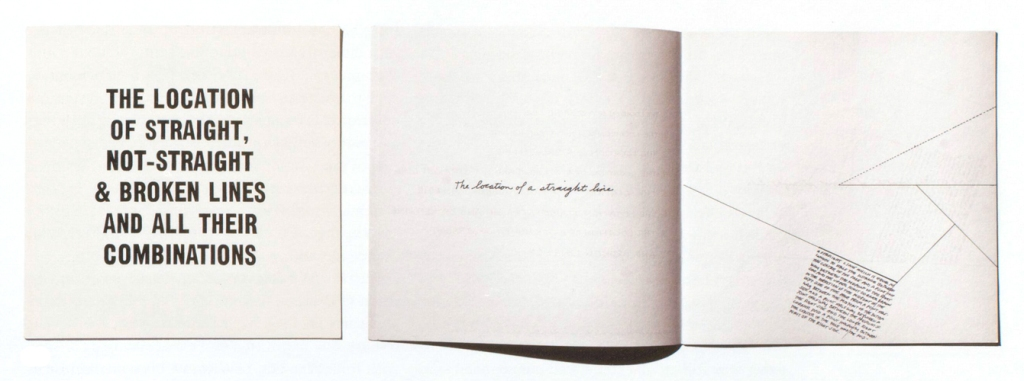 Artists' book: Sol LeWitt, The Location of Straight, Not-Straight & Broken Lines and all their Combinations (New York, John Weber Gallery, 1976). 8x8 inches (20.3x20.3 cm), 16pp