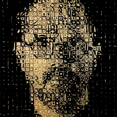 Chuck Close, Self-Portrait, 1999 100 x 80 cm, Reliefdruck auf Papier