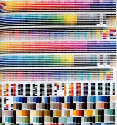Beat Zoderer, RAL und PANTONE, 1995 190 x 180 cm, Ral and Pantone Farbfläche auf Leinwand