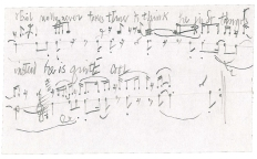 Manuscript from John Cage, arrangement of Erik Satie`s Socrate, 1944