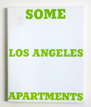Künstlerbuch | Ed Ruscha. Some Los Angeles Apartments, 1965