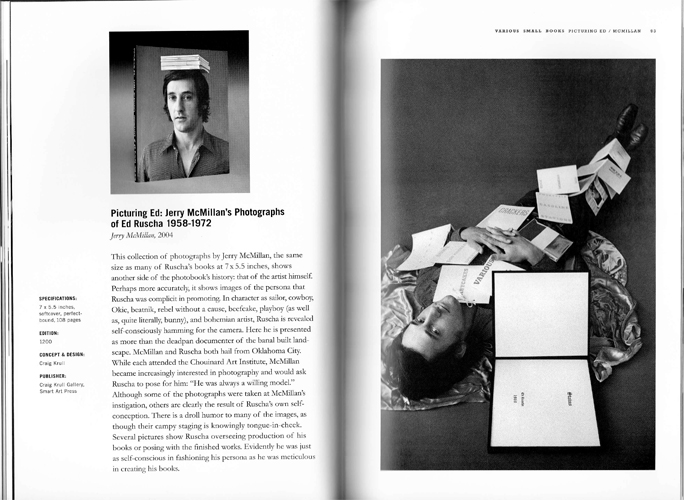 Jerry McMillan   Picturing Ed: Jerry McMillan's Photographs of Ed Ruscha. 1058-1972, 2004