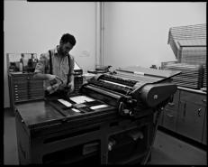bleisatz werkstatt korrex-andruckpresse
