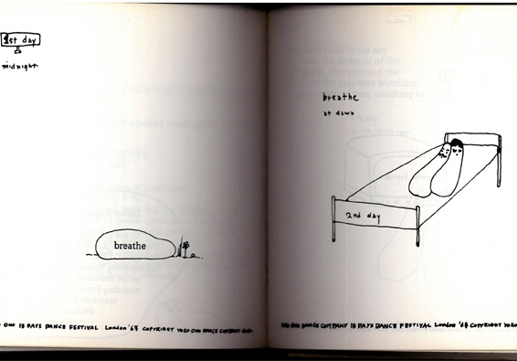 Künsterlbuch | Artists' book: Yoko Ono. Grapefruit, 1970. 13 DAYS DO-IT-YOURSELF DANCE FESTIVAL
