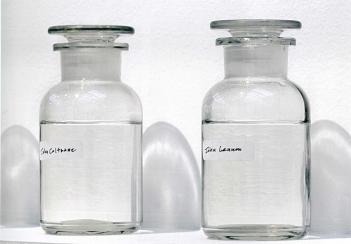We are all water, 2006 Glasflaschen, Wasser, Tinte auf Papier, Holzregal, Stuhl, Tisch, Karten, Stifte, Maße variabel