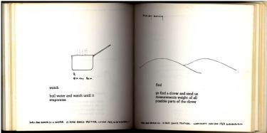 Künsterlbuch | Artists' book: Yoko Ono. Grapefruit, 1970. 13 DAYS DO-IT-YOURSELF DANCE FESTIVAL