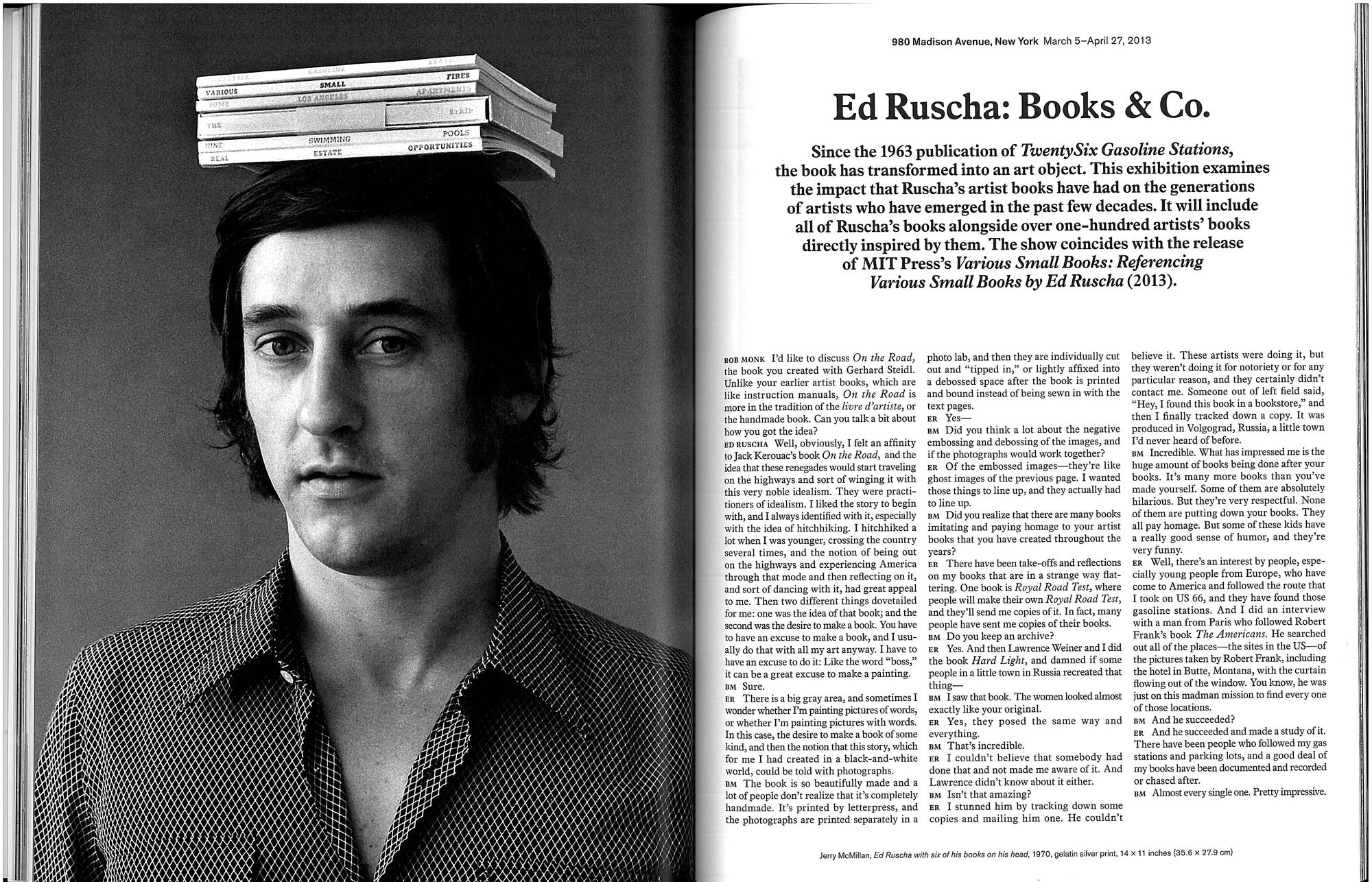 Ed Ruscha Interview
