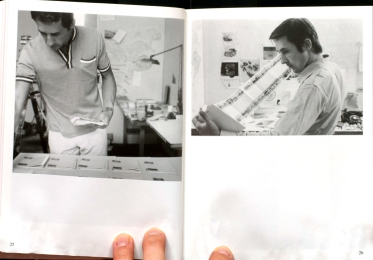 Jerry McMillan: Ed laying out pieces of Every Building on the Sunset Strip book, 1967