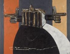 """Werner Büttner - Gemeine Wahrheiten gegen den guten Geschmack: """"Der antifaschistische Schutzwall"""", 1988, Öl auf Leinwand, 190 x 240 cm, Sammlung Grässlin, St. Georgen. (© Werner Büttner/Foto: ONUK)"""