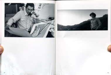 Jerry McMillan: left: Ed with his Standard Stations silkscreen print, 1967. right: Ed with Hollywood sign, an assignment for Life magazine that was not used, 1972