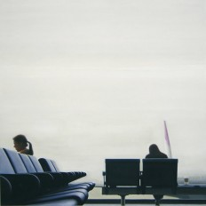 Ingmar Alge, Ohne Titel (Abflug Nr. 2), 2009 (182 x182 cm)