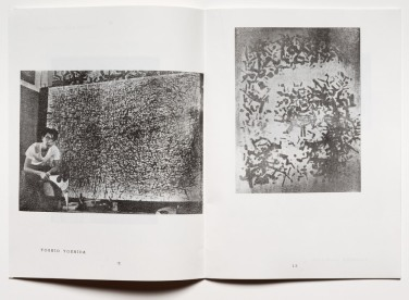 nterior spread from Gutai 1. Works by Yoshida Toshio. © The former members of the Gutai Art Association, photo by Kristopher McKay