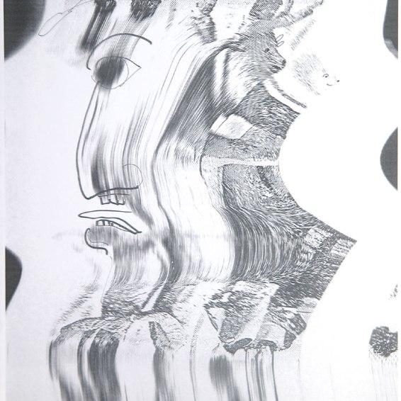 Sigmar Polke: Sieht man ja, was es ist, 2002. C-Print auf weißem Karton nach einer manipulierten und übermalten Kopie, 27,9 x 19,5 cm; Signiert, datiert und nummeriert