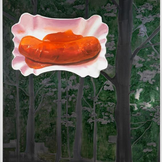 Werner Büttner: Der romantische Imperativ, 2007, Öl auf Leinwand, 240 x 190 cm, Courtesy Galerie Grässlin | © Werner Büttner | Foto: Egbert Haneke