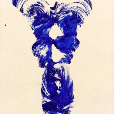 Yves Klein: Anthropométrie (ANT 19), o.T., 1960, 66.5 x 50.5 cm