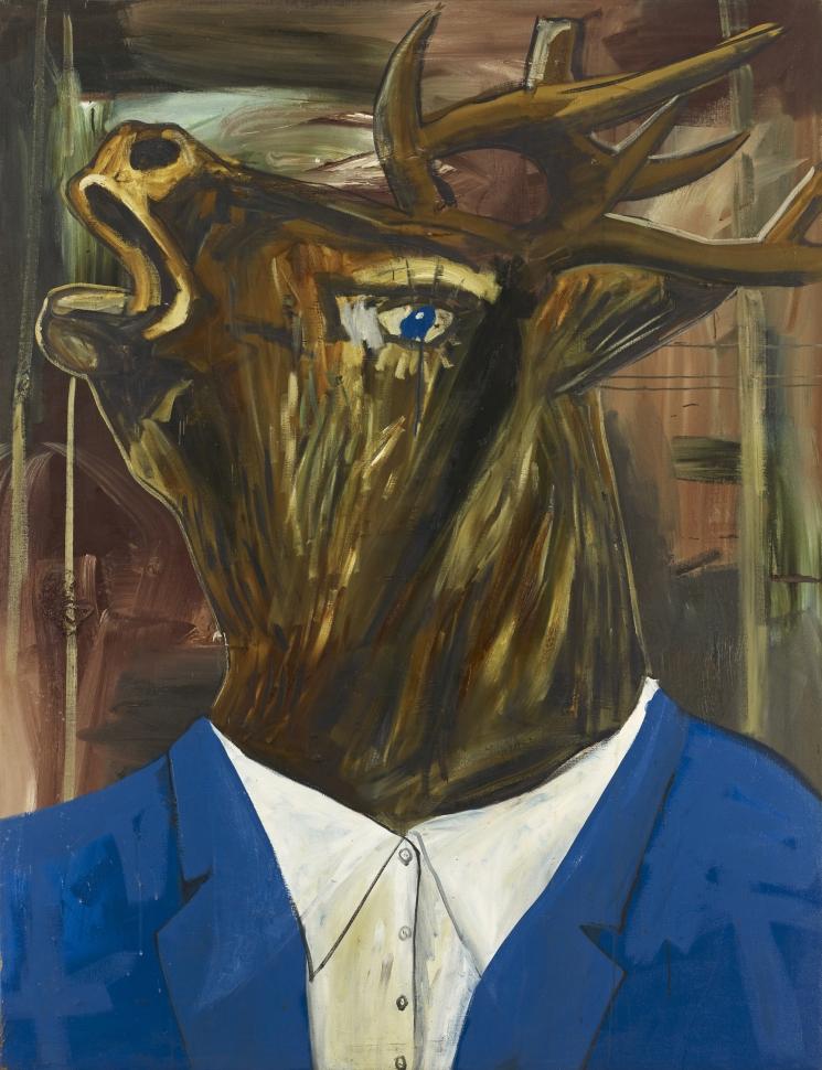 Albert Oehlen, Auch Einer, 1985. Öl, Lack auf Leinwand / Oil, lacquer on canvas, 220 x 168 cm, Im Besitz des Künstlers / Courtesy of the artist, Photo: Lothar Schnepf © 2013 Albert Oehlen