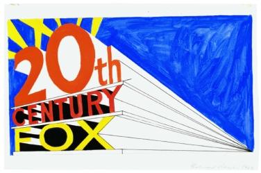 Ed Ruscha. Trademark # 5, 1962, Öl, Tempera, Tinte und Bleistift auf Papier, 7 1/4 x 12 7/8 in. (18,4 x 32,7 cm), Tate: Purchased 1999, © Ed Ruscha