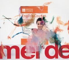 Albert Oehlen, English Courses, 2008. Öl und Papier auf Leinwand / Oil and paper on canvas 270,4 x 310 cm, Privatsammlung / Private collection, Photo: Jörg von Bruchhausen © 2013 Albert Oehlen