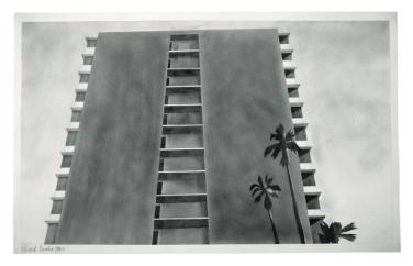 Ed Ruscha, Doheny Drive, 1965Graphitstaub und Bleistift auf Papier13 3/4 x 22 7/16 in. (35,6 x 57,2 cm)Donald B. Marron, New York© Ed Ruscha