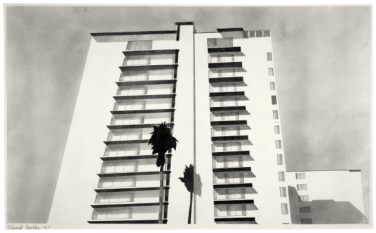 Ed Ruscha, Wilshire Boulevard, 1965Graphitstaub und Bleistift auf Papier14 1/8 x 22 5/8 in. (35,9 x 57,5 cm)Courtesy Gagosian Gallery© Ed Ruscha