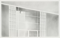 Ed Ruscha San Fernando Valley, 1965 Graphitstaub und Bleistift auf Papier Blatt: 14 1/2 x 22 1/2 in. (36,8 x 57,2 cm) Whitney Museum of American Art, New York; gift of the American Contemporary Art Foundation, Inc., Leonard A. Lauder, President © Ed Ruscha
