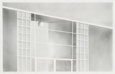 Ed Ruscha San Fernando Valley, 1965 Graphitstaub und Bleistift auf Papier Blatt: 14 1/2 x 22 1/2 in. (36,8 x 57,2 cm) Whitney Museum of American Art, New York; gift of the American Contemporary Art Foundation, Inc., Leonard A. Lauder, President © Ed Ruscha