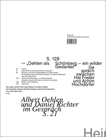 Künstlerbuch | Albert Oehlen. Malerei, 2013, Gestaltungskonzept: Heimo Zobernig (Foto: Marlene Obermayer)