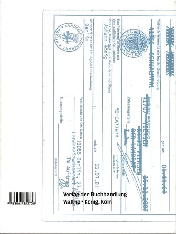 Künstlerbuch | Johannes Wohnseifer. Teile, Verlag der Buchhandlung Walther König, Köln 2013 - Rückseite (Foto: Marlene Obermayer)
