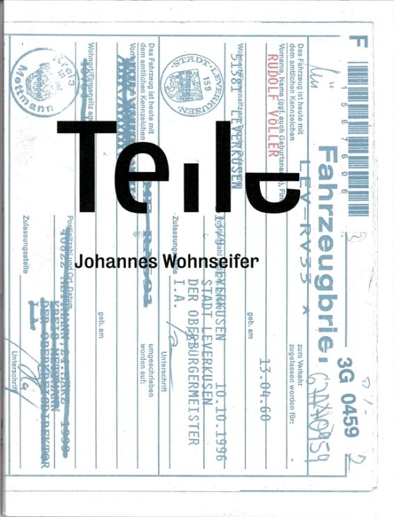 Künstlerbuch | Johannes Wohnseifer. Teile, Verlag der Buchhandlung Walther König, Köln 2013 (Foto: Marlene Obermayer)