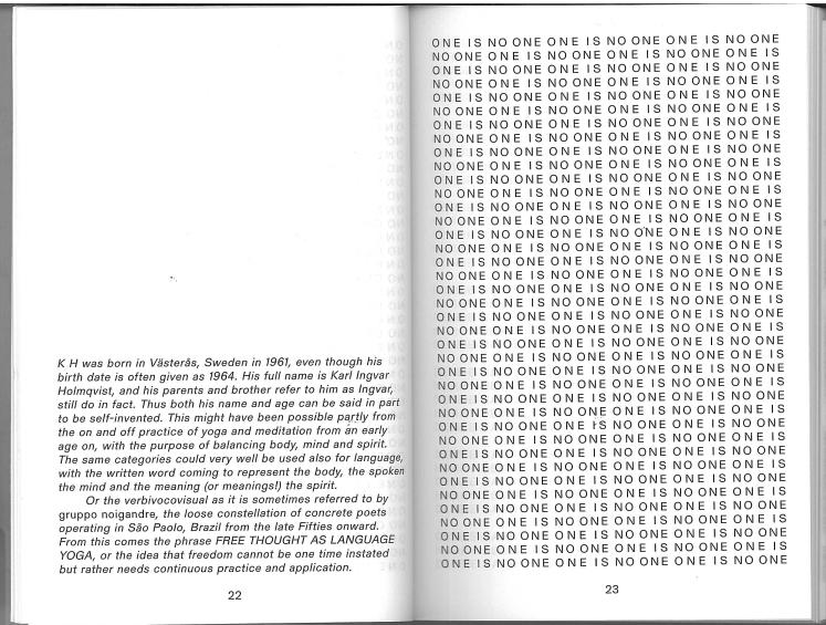 Künstlerbuch | Artists' book: Karl Holmqvist. 'K, 2012 (Foto: Marlene Obermayer)