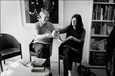 Martin Parr mit Regina Maria Anzenberger (copyright Kay von Aspern)