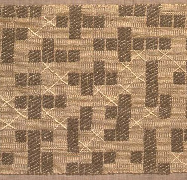 Anni Albers, Pictographic, 1953, Baumwolle, 45.7 x 101.6 cm, The Detroit Institute of Arts.