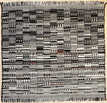 Anni Albers, Open Letter, 1958, Baumwolle, 58.4 x 59.7 cm, The Josef and Anni Albers Foundation, Bethany, CT.