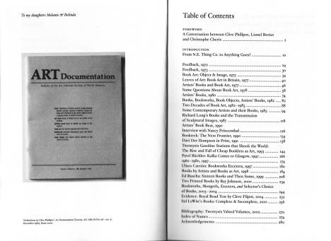 Inhaltsverzeichnis Clive Phillpot Booktrek