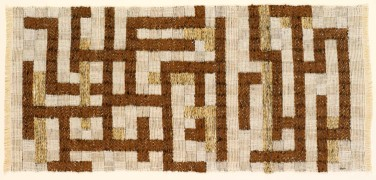Anni Albers, Two, 1952, Leinen, Baumwolle und Kunstseide, 45,7 x 104,1 cm, The Josef and Anni Albers Foundation, Bethany, CT.