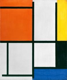 Piet Mondrian (1872–1944) Tableau 3, avec orange-rouge, jaune, noir, bleu et gris, 1921 Öl auf Leinwand49.5 x 41.5 cmEmanuel Hoffmann-Stiftung, Depositum in der Öffentlichen Kunstsammlung Basel 1941Photo: Kunstmuseum Basel, Martin P. Bühler© Mondrian/Holtzman Trust c/o HCR International USA